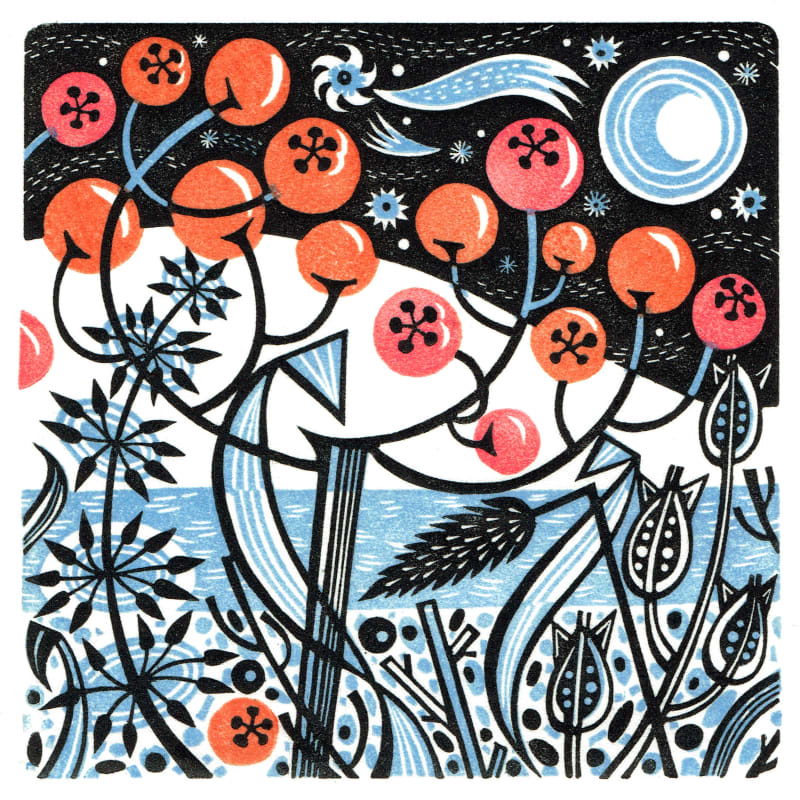 Angie Lewin RWS RE, Winter Berries