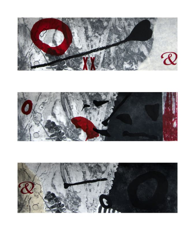 Bren Unwin PPRE Hon. RWS, Pondlife V, Triptych