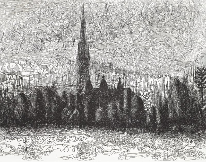 Paul Hawdon RE, Salisbury Cathedral (Evening)