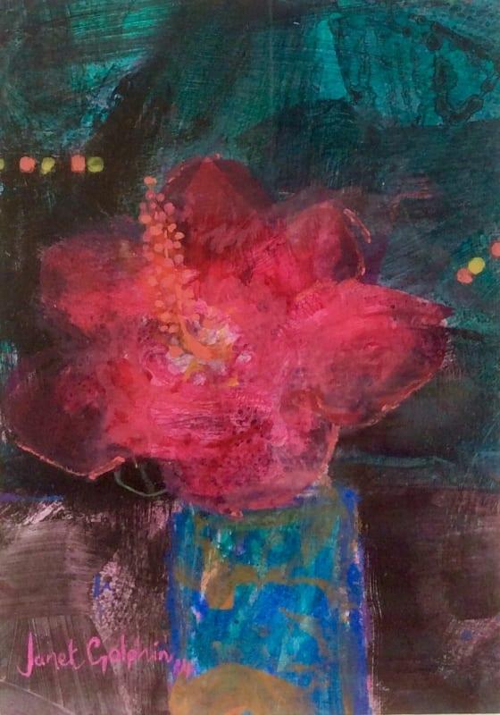 Janet Golphin RWS, Pink Hibiscus