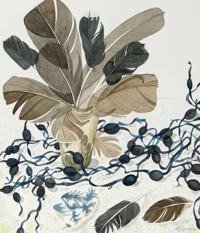 Angie Lewin RWS RE, Berneray Blue, Horn Beaker