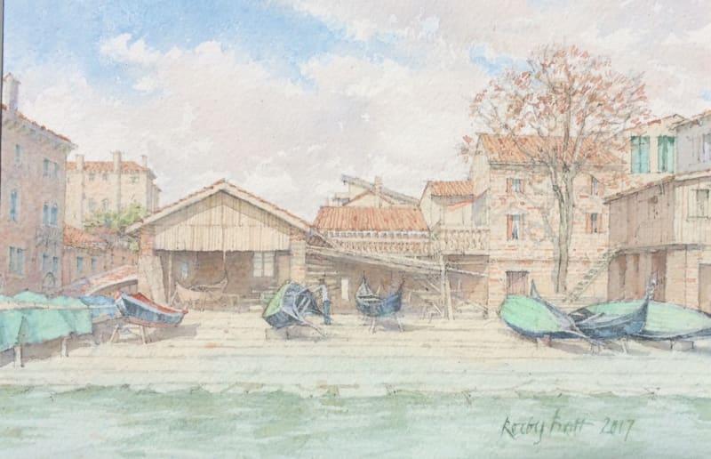 Dennis Roxby Bott RWS, Gondola Workshop, Venice