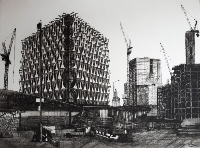 Melanie Bellis RE, US Embassy Construction-scape