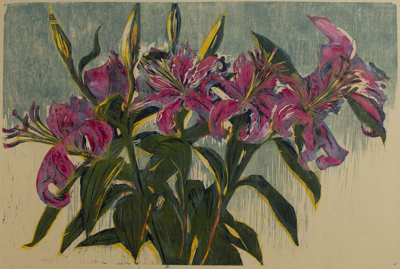 Hilary Daltry RE, Lilies