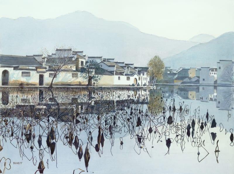 David Paskett PPRWS Hon. RE, Lotus Pond, Hong Cun