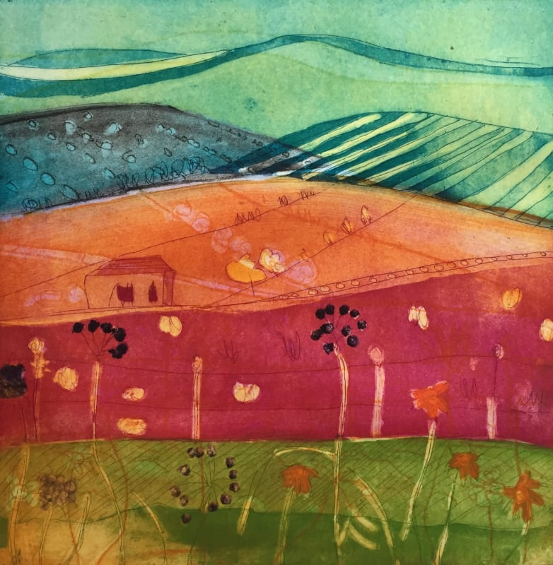 Louise Davies RE, Distant Hills