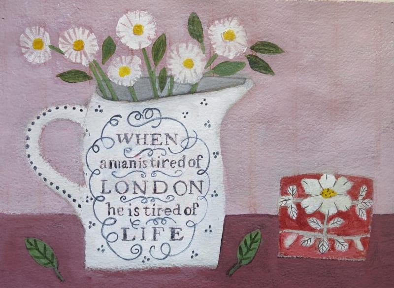 Jill Leman PRWS, Daisies in a London Jug