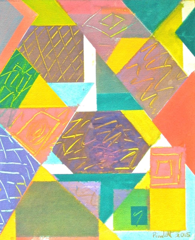 Geoffrey Pimlott RWS, Marks Made in Coloured Shapes