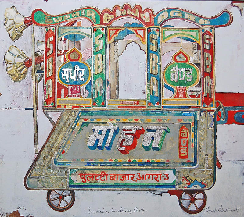 Stuart Robertson RWS, Indian Wedding Cart