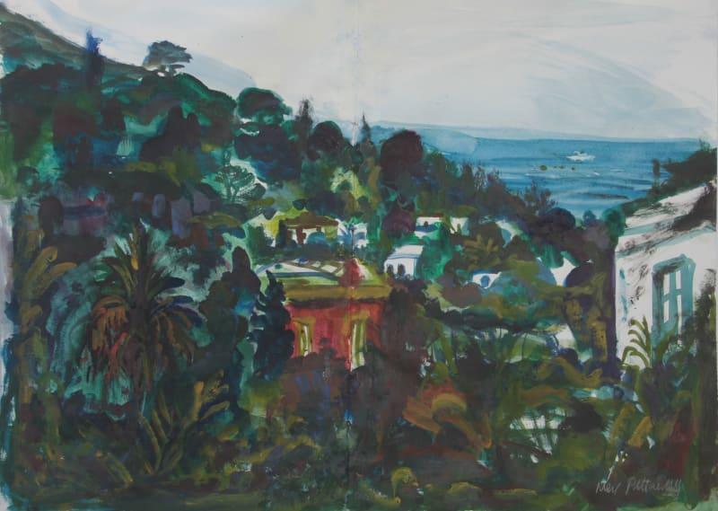 Neil Pittaway RWS RE, View of Ingrid Bergman's House on Stromboli