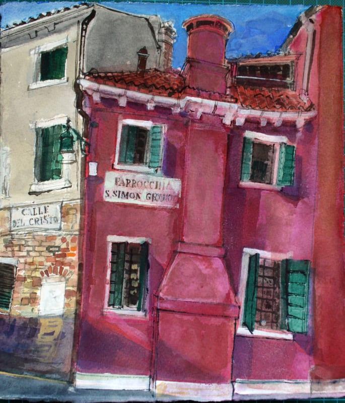 Peter Quinn RWS, Calle del Cristo, Venice