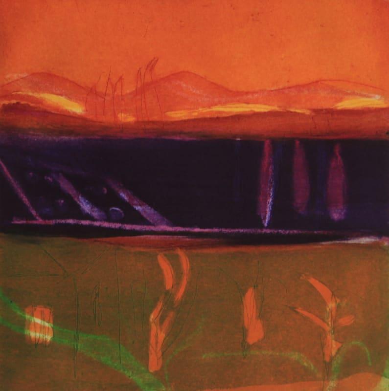 Louise Davies RE, Spanish Sunset