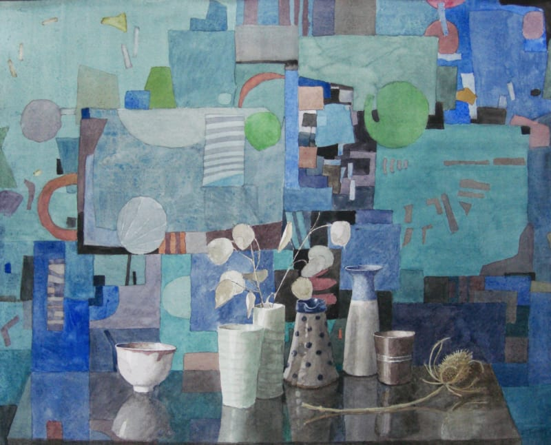 Annie Williams RWS RE, Still Life in Blue
