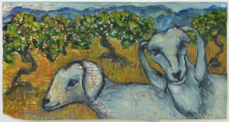 Sula Rubens ARWS, Two Young Goats Study