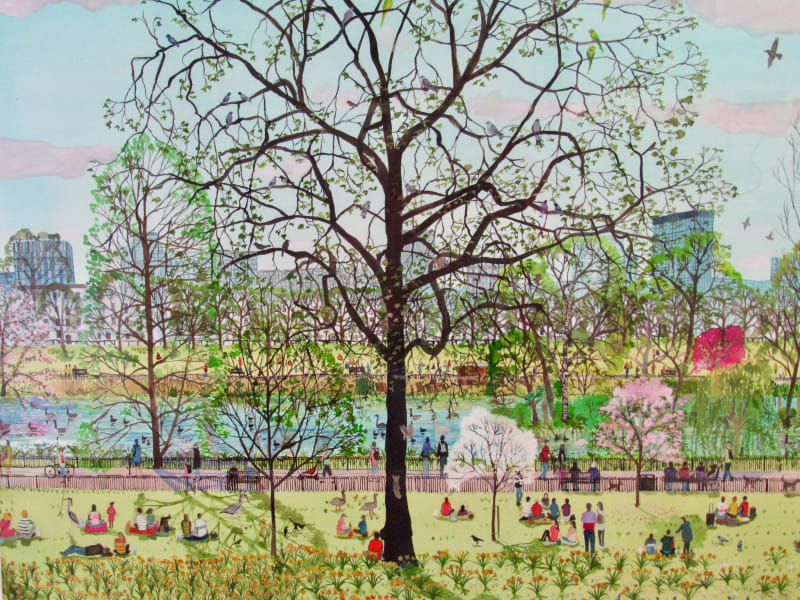 Emma Haworth ARWS, Spring Evening Picnic