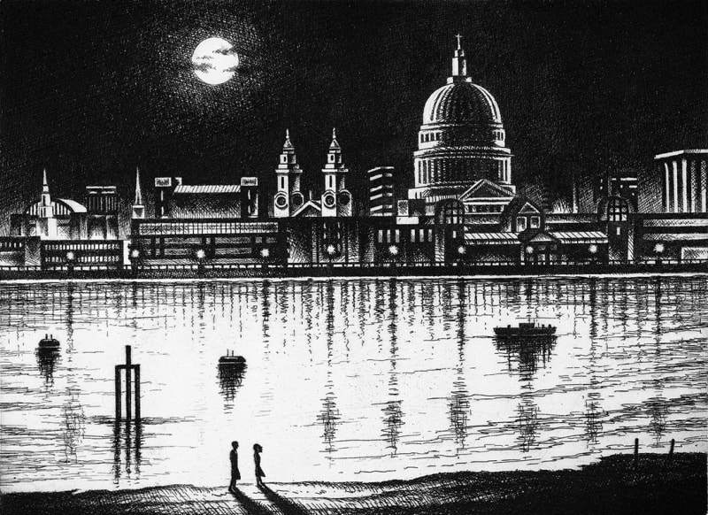 John Duffin RE, River Thames - St Pauls Cathedral