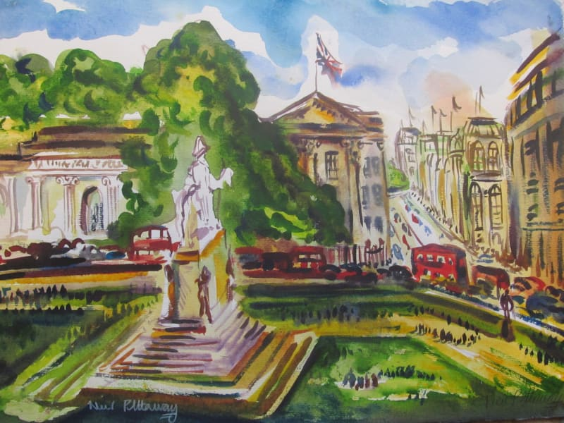 Neil Pittaway RWS RE, Hyde Park Corner from Wellington Arch