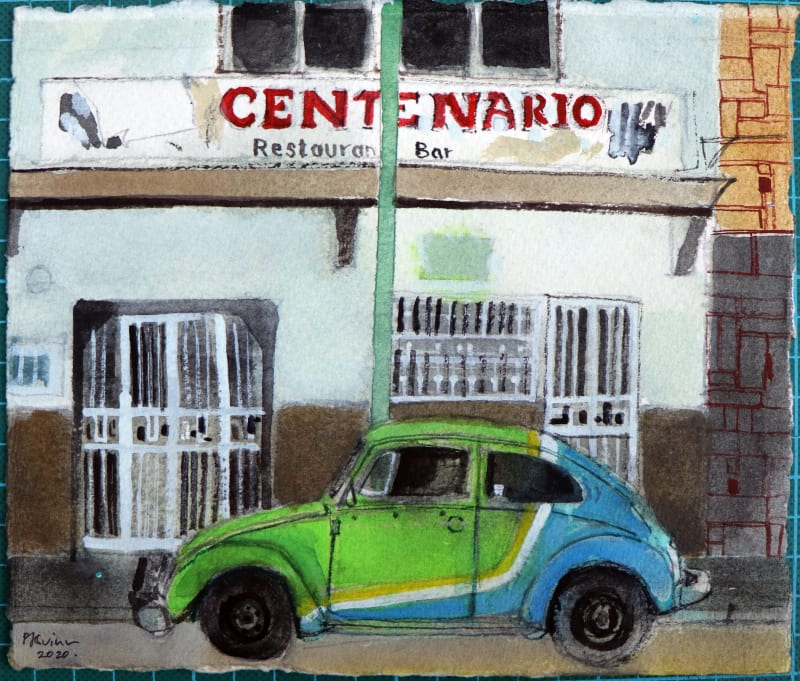 Peter Quinn RWS, VW Beetle, Mexico City
