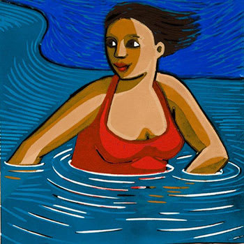 Anita Klein PPRE Hon. RWS, The Wave