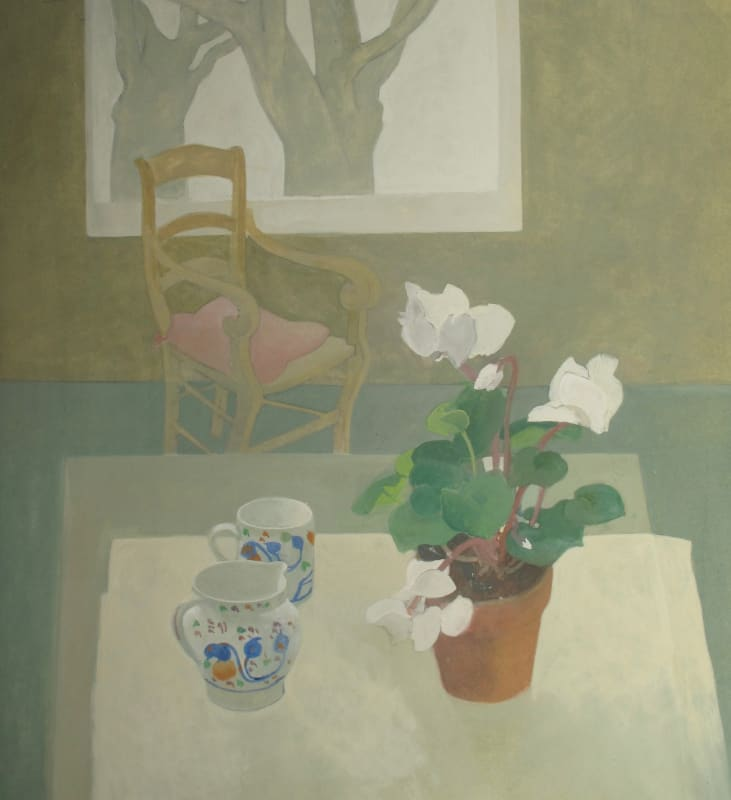 Wendy Jacob RWS, Cyclamen and Gaudy Ware