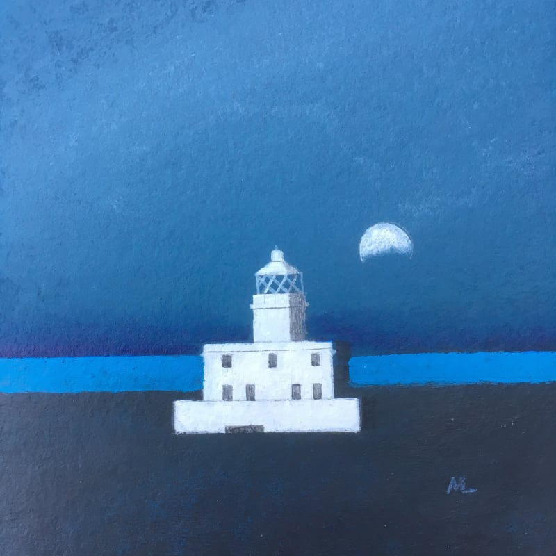 Martin Leman RWS, Lighthouse & Moon