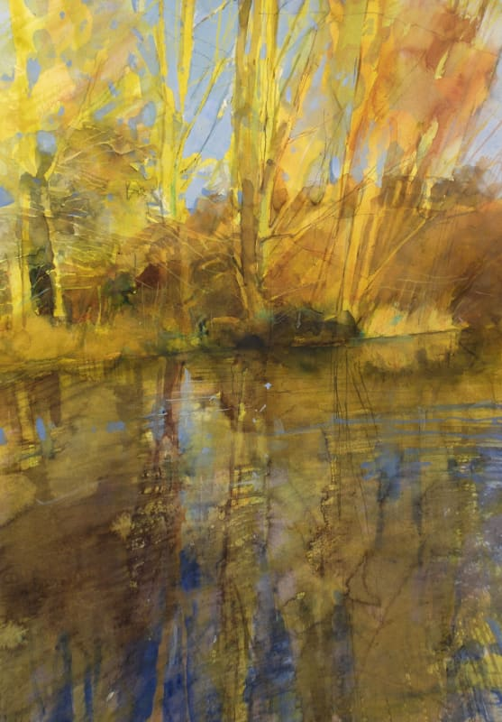 Richard Pikesley RWS, Stour, Sun After Rain