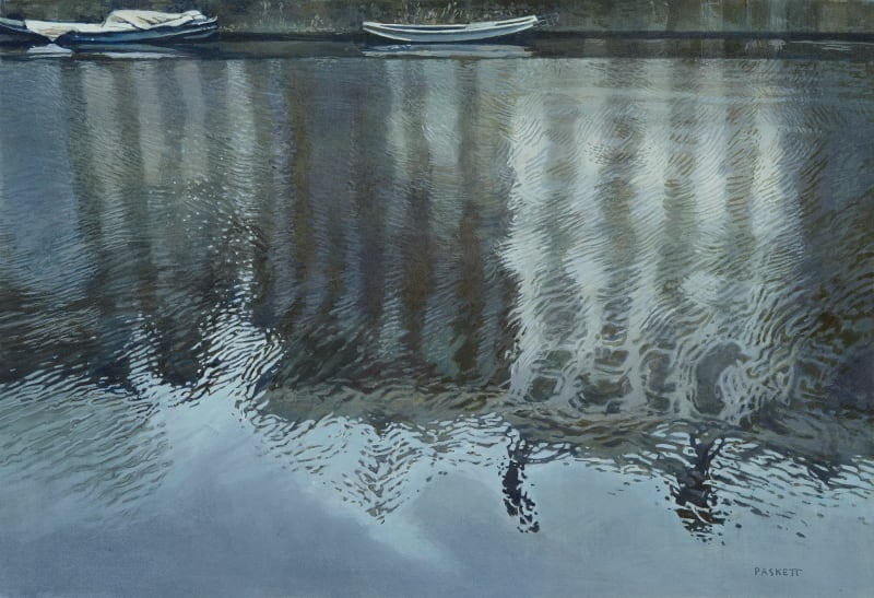 David Paskett PPRWS Hon. RE, Shimmering Water, Amsterdam