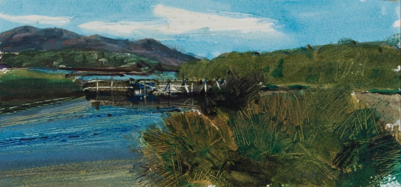 John Newberry RWS, Fish Pens, Agios Spiridon, Corfu