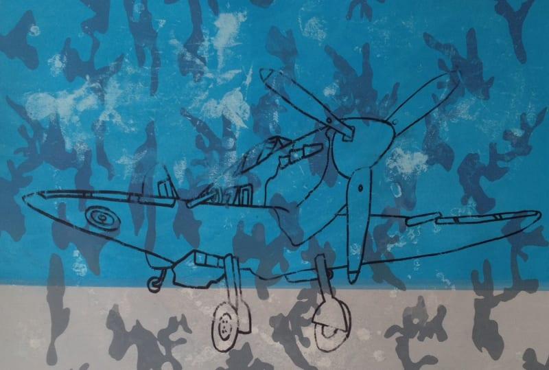 Frank Kiely RE, Spitfire Camouflage