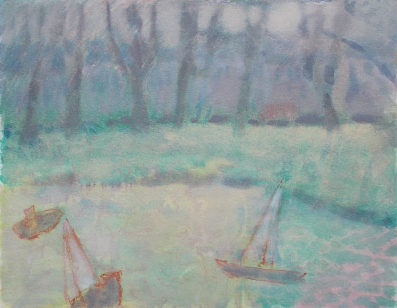 Anne Marlow RWS, Boats on the Common