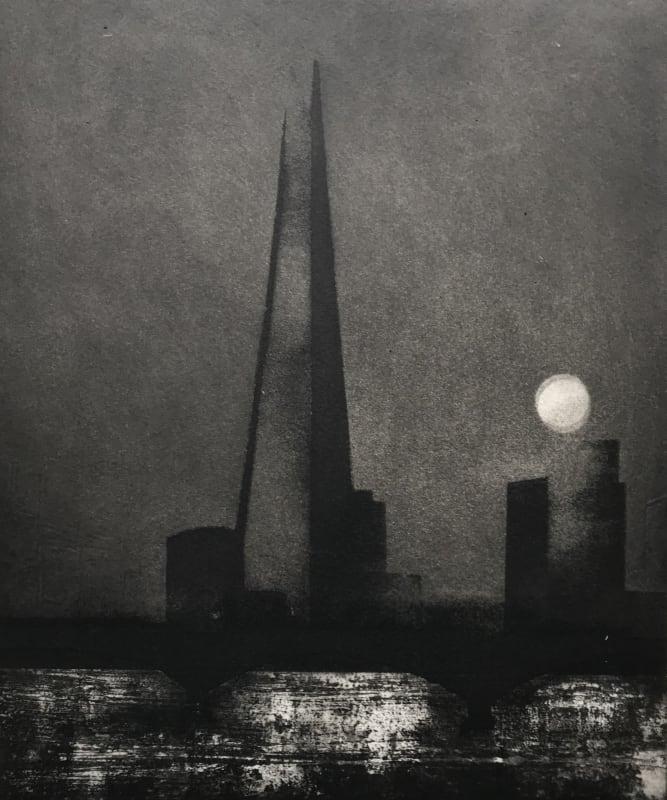 Jason Hicklin RE, The Thames, Sturgeon Moon