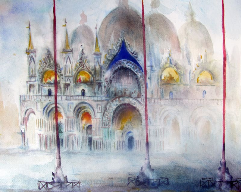 Neil Pittaway RWS RE, Early Morning, San Marco, Venice