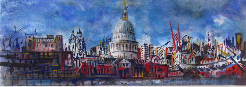 Neil Pittaway RWS RE, St. Paul's from the Thames