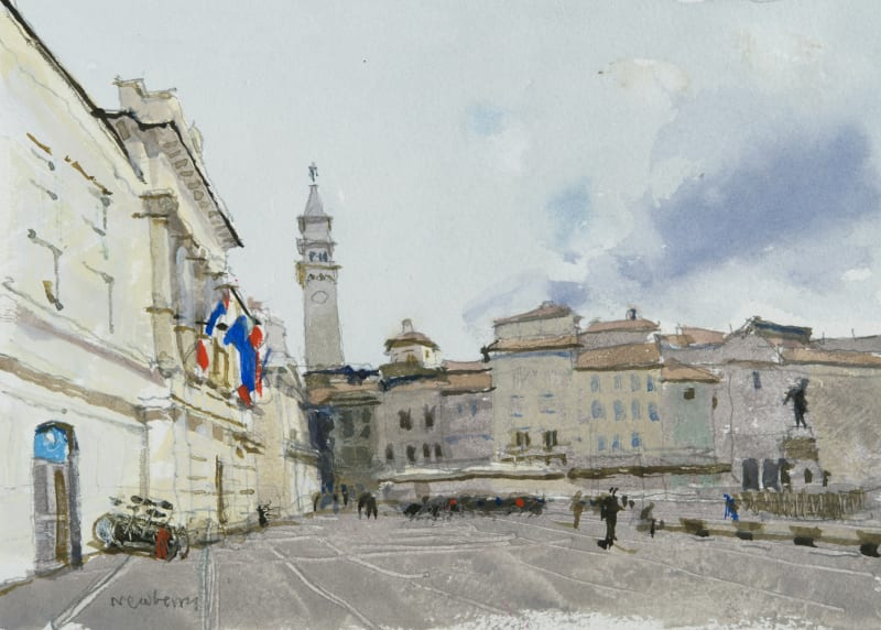 John Newberry RWS, Tartini Square, Piran, Slovenia