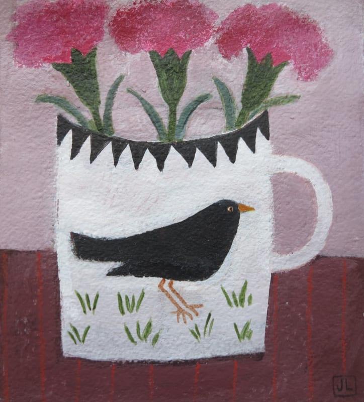 Jill Leman PRWS, Mary's Blackbird Mug