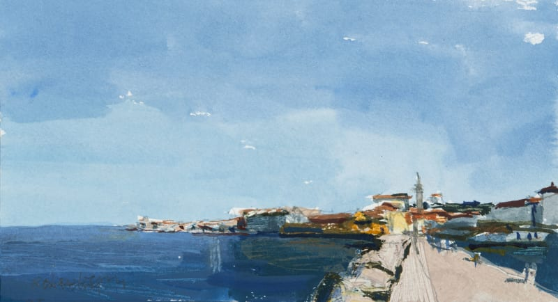 John Newberry RWS, Piran from the Quay, Slovenia