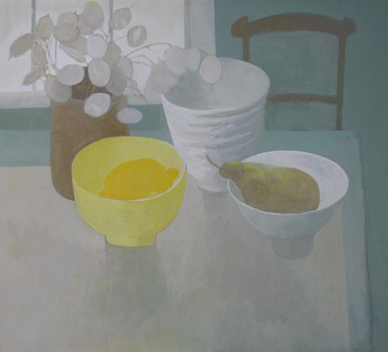 Wendy Jacob RWS, Honesty, Lemon and Pear