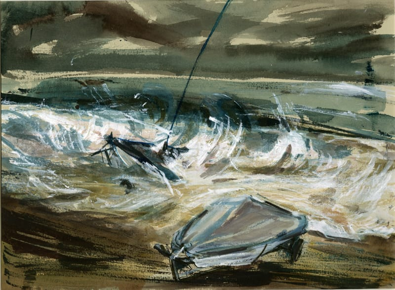 Julia Midgley RWS RE, Storm Francis - Dinghies