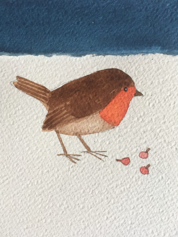 Jill Leman PRWS, Robin in the Snow