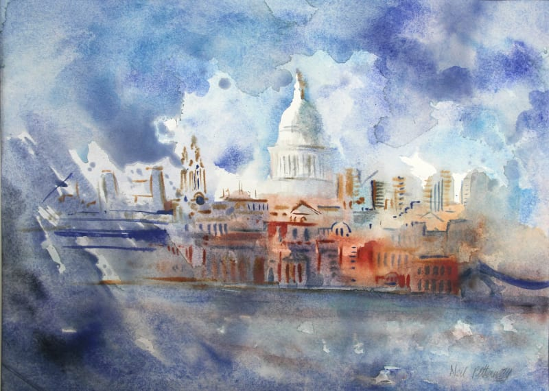 Neil Pittaway RWS RE, St Paul's from Bankside