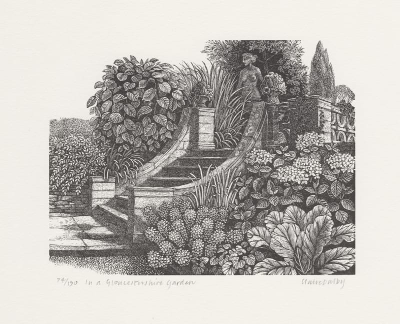 Claire Dalby RWS RE, In a Gloucestershire Garden