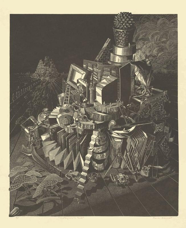 Anne Desmet RA RE, Wood Engraver's Tower