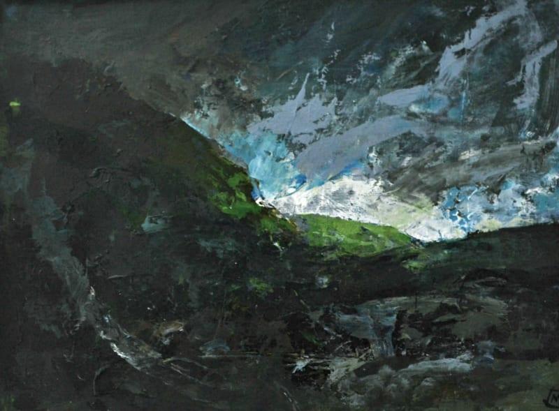 Colin Merrin RWS, Storm Over Gran Sasso 4