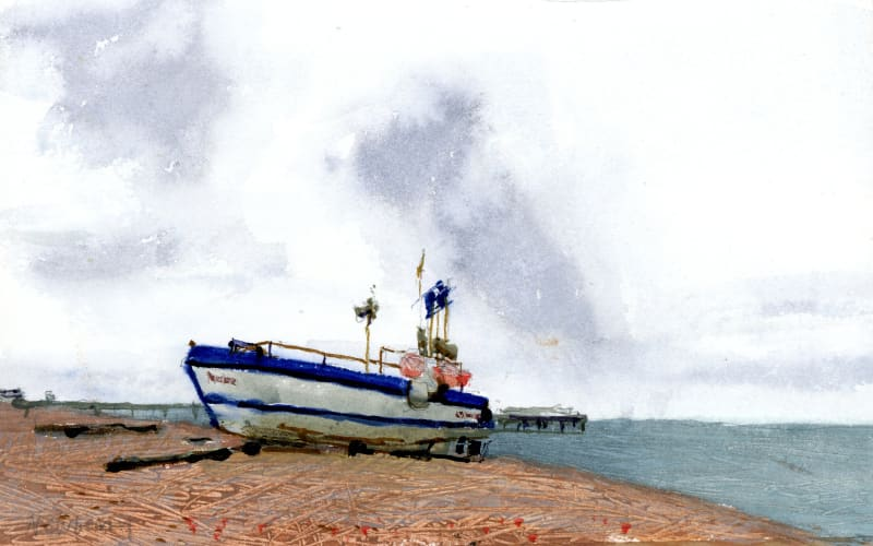 John Newberry RWS, Boat on Deal Beach