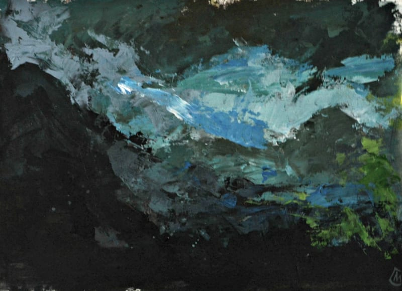 Colin Merrin RWS, Storm Over Gran Sasso 2