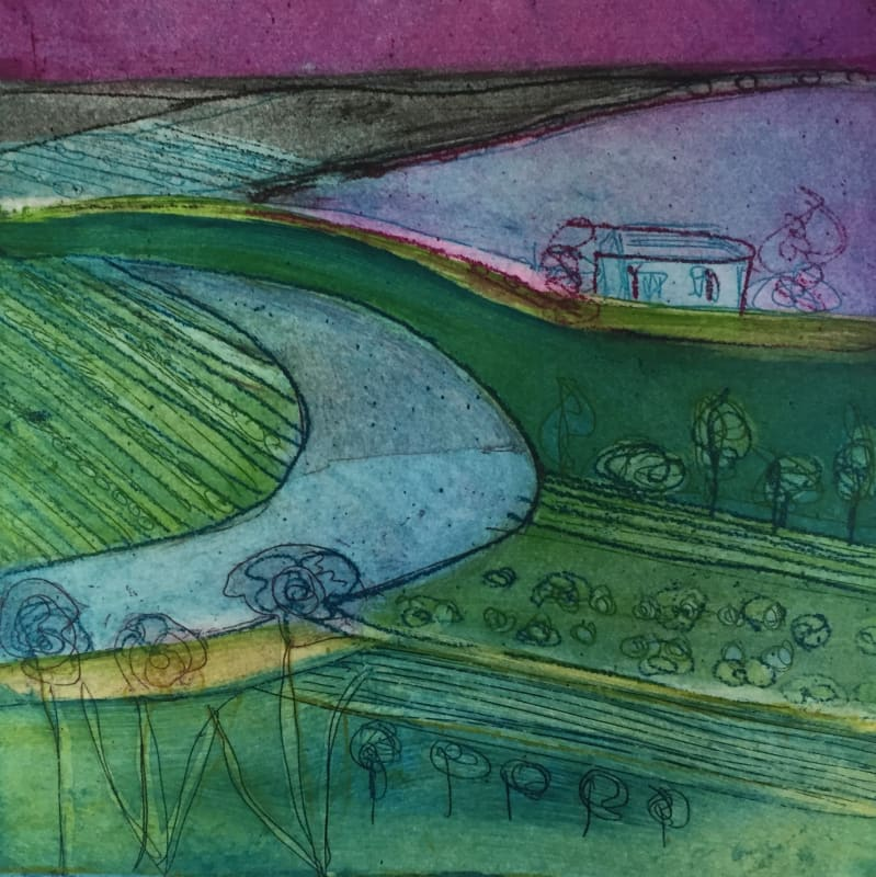 Louise Davies RE, Lavender Field