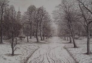 Peter Ford RE, Kew Gardens in Winter