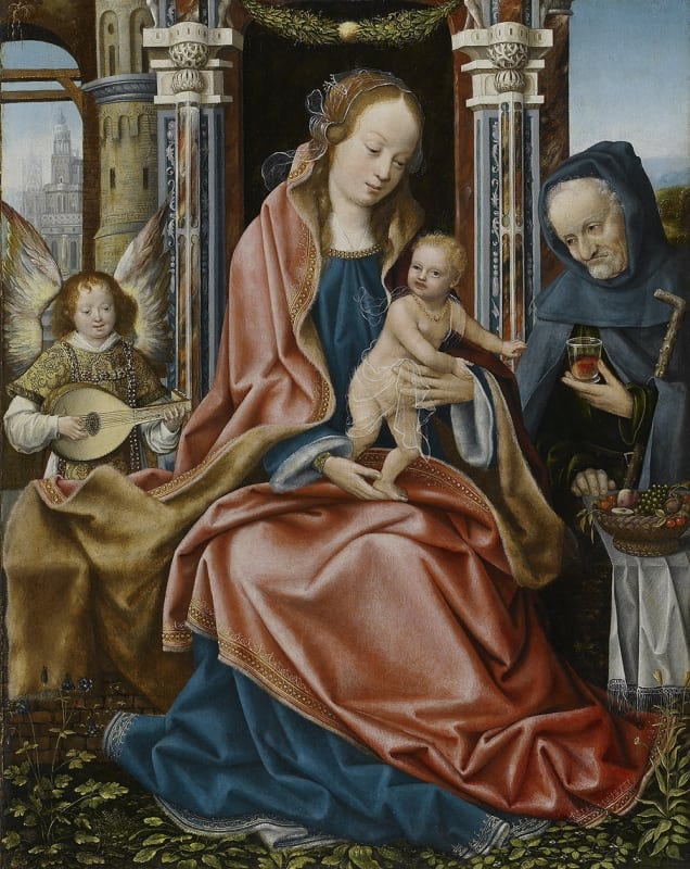 The Master of Frankfurt, The Holy Family with an Angel Musician