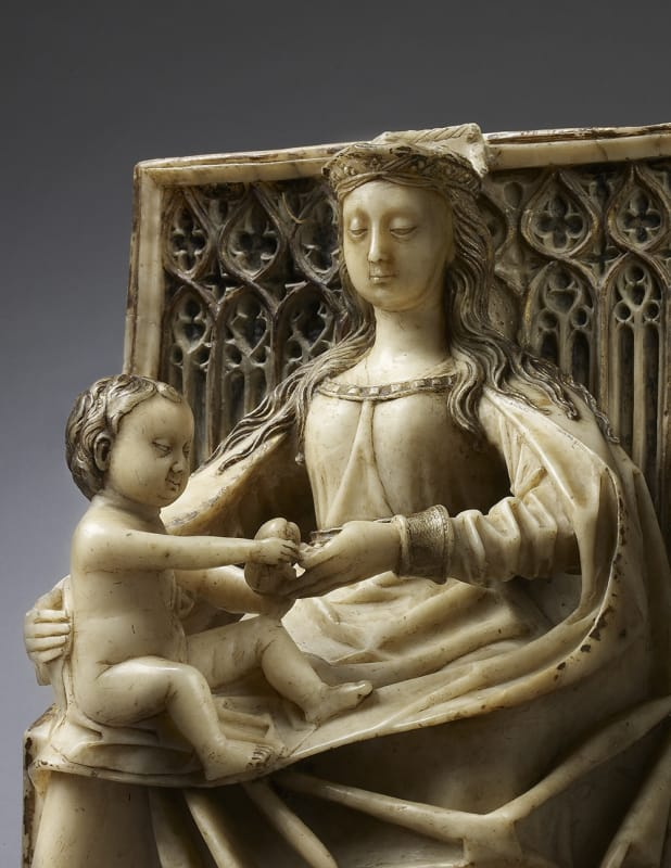 Gil de Siloe, Enthroned Virgin and Child