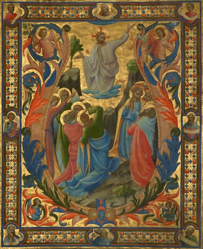 The Ascension, from a gradual made for the monastery of Santa Maria degli Angeli